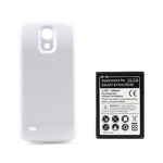 White Back Housing Case + Extended Battery for Samsung Galaxy S4 mini i9190, 6200mAh(EU Version)
