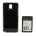 Black Modified Battery Cover + 6800mAh Thick Battery for Samsung Galaxy Note 3 N9005 N9000 N9002