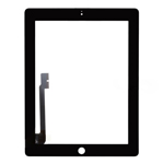 Black For iPad 4 Digitizer Touch Screen Replacement Part (High Quality)