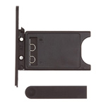 Black OEM SIM Card Tray and Charging Port Cover for Nokia Lumia 800